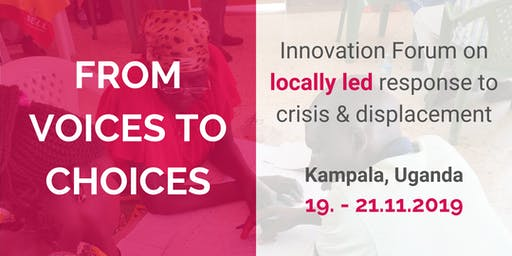 Innovation Forum on locally led response to crisis and displacement