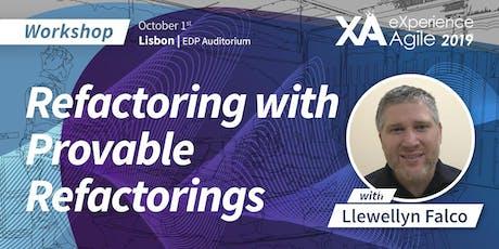 XA Workshop: Refactoring with Provable Refactorings - Llewellyn Falco bilhetes
