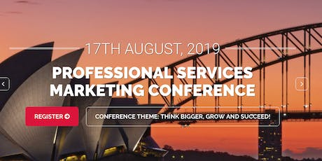 Professional Services Marketing Conference tickets