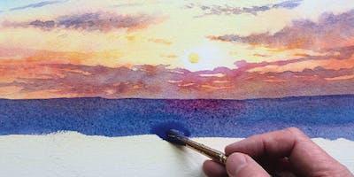 Painting Summer Skies in Watercolour