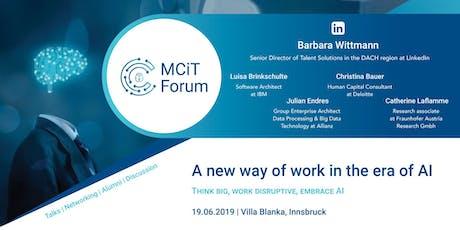 MCiT Forum Tickets