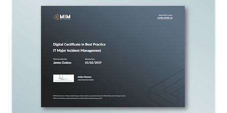 MIM® Training and Certification Course - 3 days tickets