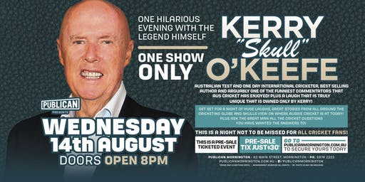 "Kerry ""Skull"" O'Keefe LIVE at Publican, Mornington!"