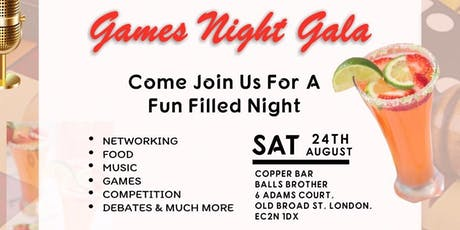 Games Night Gala tickets