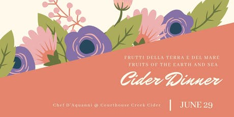 Cider Dinner- Fruits of the Earth and Sea tickets