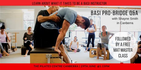 BASI Pilates Pro-Bridge Q & A and Master Matwork BASI Flow Class tickets