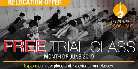 Iyengar Yoga Centre Relocation Offer - Free Trial Yoga Class tickets
