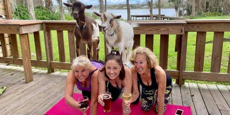Goat Yoga plus free drink! 6/29/19 tickets