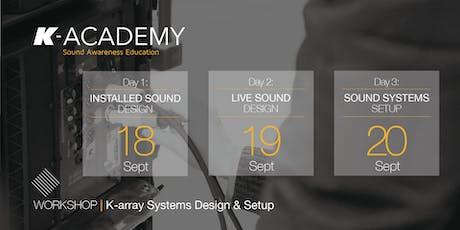 K-array Systems Design & Setup tickets