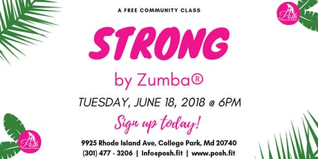 FREE Community Class   STRONG tickets