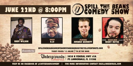 Spill the Beans Stand Up Comedy Show- Ricky Reyes (Comedy Central & Sirius XM) tickets