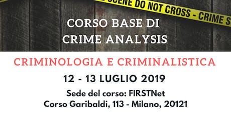 CORSO Teorico Pratico CRIME Analysis - 6 crediti per avvocati tickets