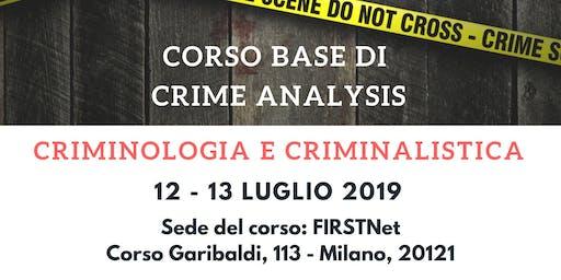 CORSO Teorico Pratico CRIME Analysis - 6 crediti per avvocati
