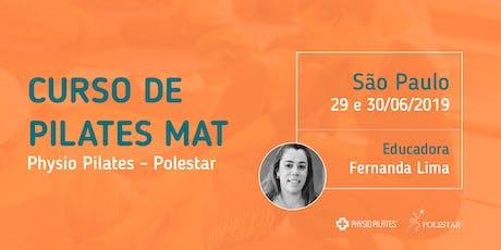 Curso de Pilates Mat - Physio Pilates Polestar - São Paulo ingressos
