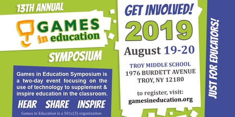 Games in Education Symposium 2019 tickets