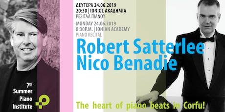 Συναυλία πιάνου με τους Robert Satterlee και Nico Benadie tickets