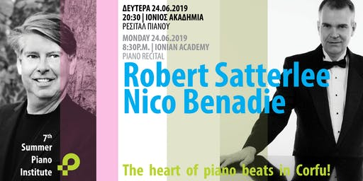 Συναυλία πιάνου με τους Robert Satterlee και Nico Benadie