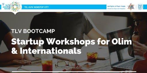 Startup Workshops for Olim & Internationals - Special Summer 2019