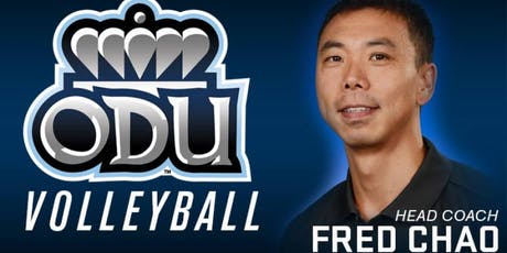 NSC August 19th meeting with Fred Chao, ODU Volleyball tickets