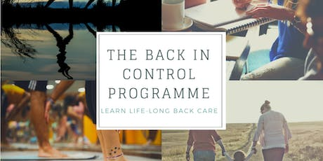 """""""Back in Control"""" - Learn Lifelong Back Care tickets"""