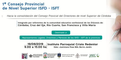 Primer Consejo Provincial de Nivel Superior ISFD - ISFT