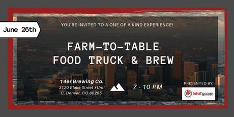 Farm-To-Table Food Truck (and Brew) Experience at Apartmentalize tickets