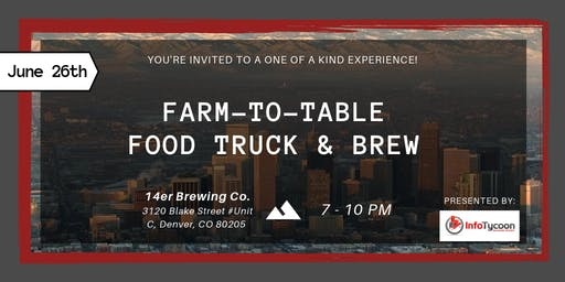 Farm-To-Table Food Truck (and Brew) Experience at Apartmentalize