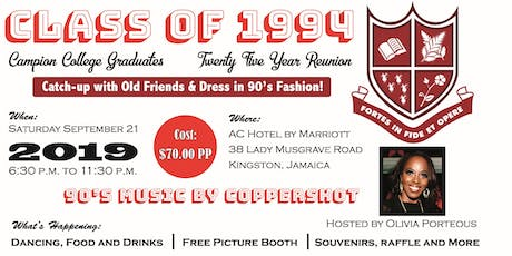 Campion College Class Of 1994 25 Year Reunion tickets