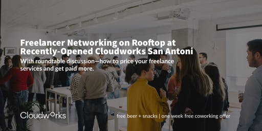Freelancer Networking on Rooftop at Recently-Opened Cloudworks San Antoni