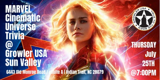 Marvel Cinematic Universe Trivia at Growler USA Sun Valley