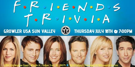 Friends Trivia at Growler USA Sun Valley tickets