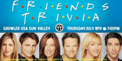 Friends Trivia at Growler USA Sun Valley