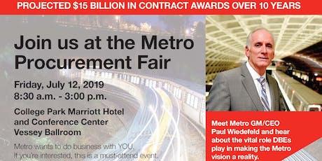 The Metro Procurement Fair tickets