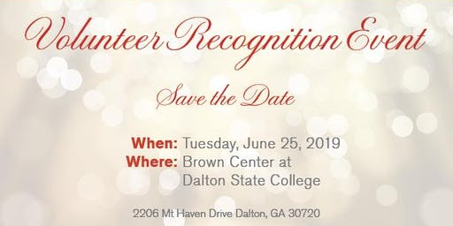 Annual Northwest Georgia Chapter Volunteer Recognition Celebration