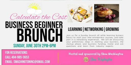 Calculate the Cost Business Brunch