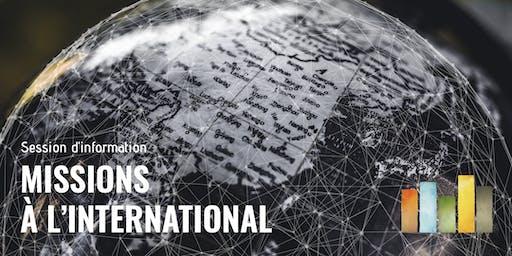 Session d'information des missions à l'international de l'UMRsu