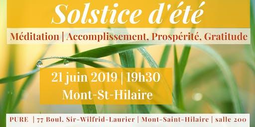 Solstice | Mont St-Hilaire | 21 juin 19h30