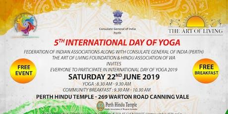 5th International Day of Yoga 2019 , Perth WA tickets