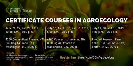 Certificate Courses in Agroecology tickets