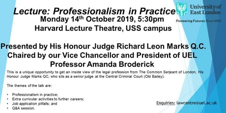 Lecture: Professionalism in Practice tickets