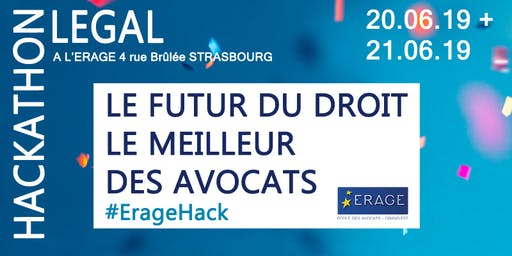 Legal Hackathon ERAGE - Finale !