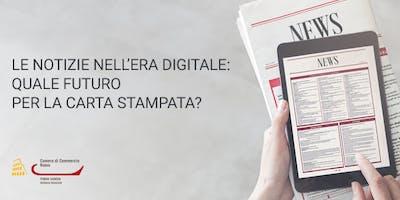 Le notizie nell'era digitale: quale futuro per la carta stampata? (GIO01.19)