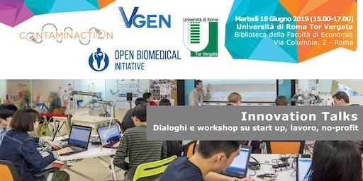 Innovation Talks   Workshop su startup, lavoro e no-profit