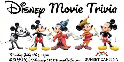 Disney Movie Trivia at Sunset Cantina