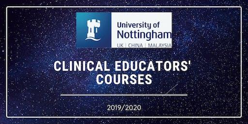 14.11.19 Clinical Educators' Course - Please book both dates