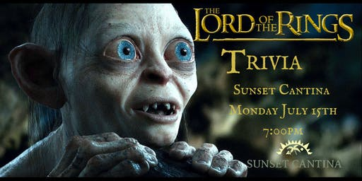 Lord of the Rings Trivia at Sunset Cantina