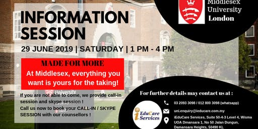MIDDLESEX UNIVERSITY INFORMATION SESSION
