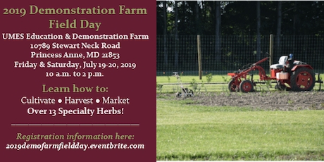 2019 Demonstration Farm Field Day tickets