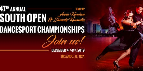 SOUTH OPEN DANCESPORT CHAMPIONSHIPS 2019 tickets