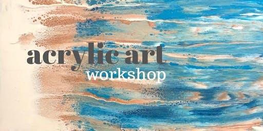 Acrylic Flow Art Workshop Saturday 22nd